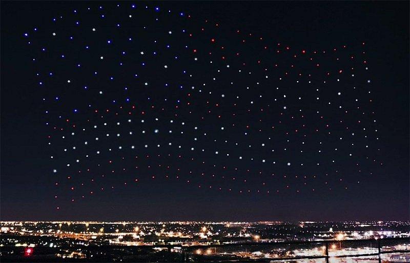 vystoupení dronů při Superbowlu