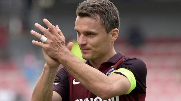 Sparta - Ostrava: David Lafata se raduje z gólu v síti Baníku