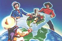 Obchodní dohoda NAFTA mezi USA, Kanadou a Mexikem, ilustrační foto.