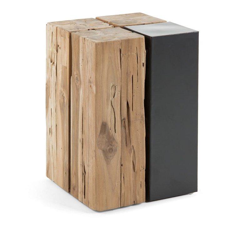 Stolek z teakového dřeva La Forma Ognak.