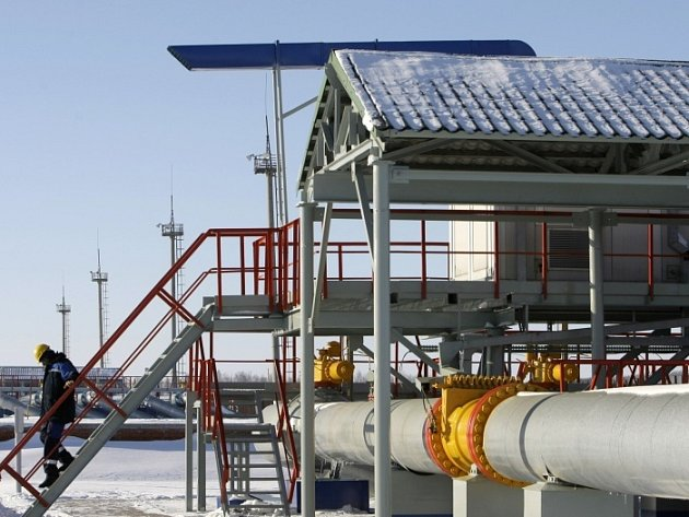 Ruská přečerpávací stanice plynu Sudža.