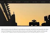 Vzkaz rodiny Michaela Schumachera na jeho oficiální webové stránce.