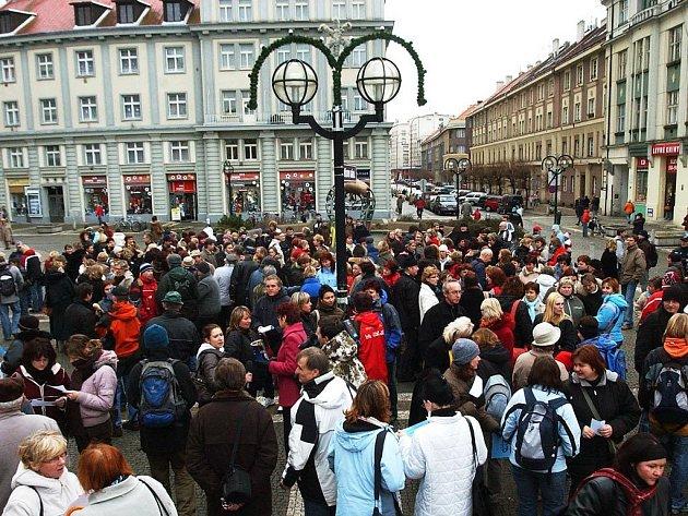 Stávka učitelů v Hradci Králové