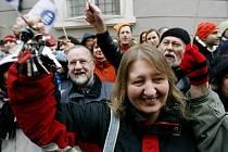 Stávka učitelů v Praze