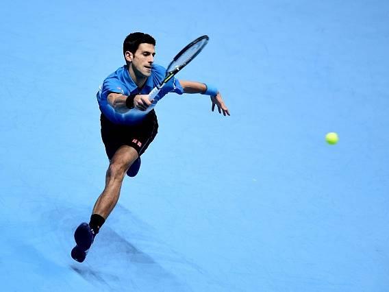 Novak Djokovič ve finále Turnaje mistrů