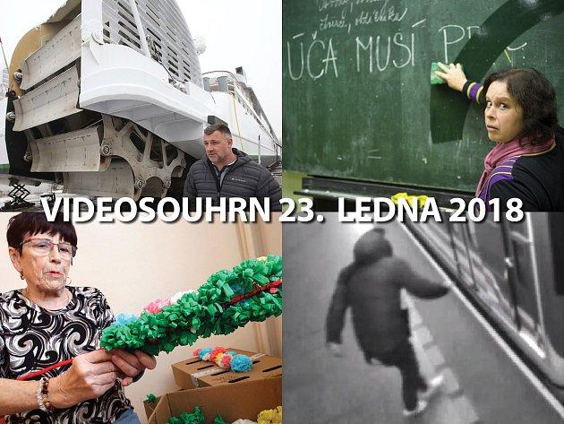 Videosouhrn Deníku – úterý 23. ledna 2018