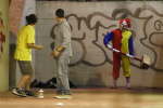 Prank se zabijáckými klauny
