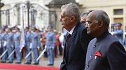 Do Česka dorazil indický prezident Rám Náth Kóvind