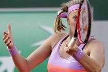 Petra Kvitová při osmifinále French Open