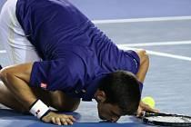 Novak Djokovič slaví vítězství