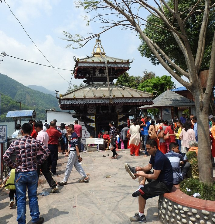 Temple on the island