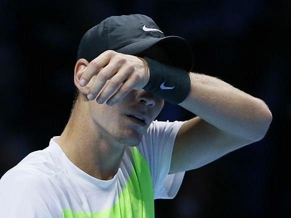Zklamaný Tomáš Berdych na Turnaji mistrů.