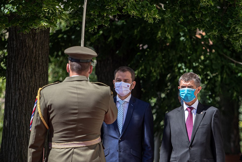 Slovenský premiér Igor Matovič navštívil Prahu
