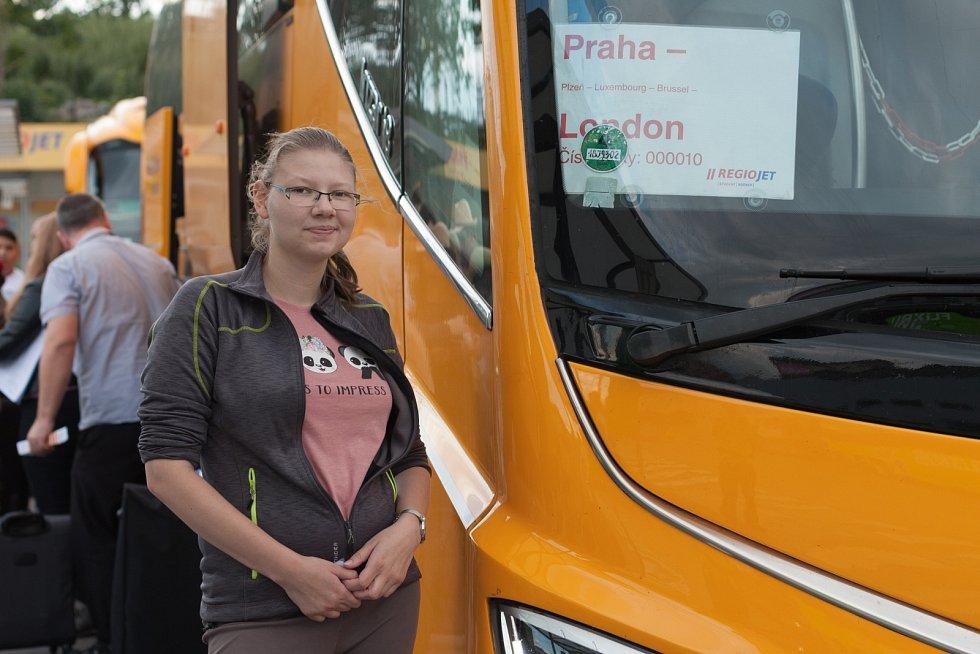 Autobus společnosti RegioJet.