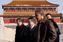 Americký prezident Barack Obama si během své návštěvy v Číně prošel i Zakáazané město.