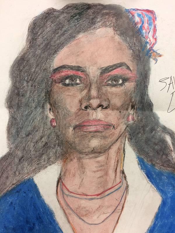 Ženy beze jména. Vrah Samuel Little pro FBI nakreslil portréty žen, které údajně zabil. Agentura zveřejnila obrázky v naději, že se jim osoby na nich podaří identifikovat. Tuto ženu Little prý zabil v roce 1984.