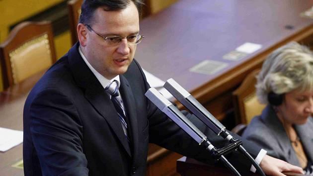 Petr Nečas ve Sněmovně