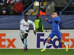 Liberec - Marseille: Zdeněk Folprecht a Benjamin Mendy