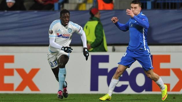 Benjamin Mendy (vlevo) si ještě v dresu Marseille zahrál i v Liberci.