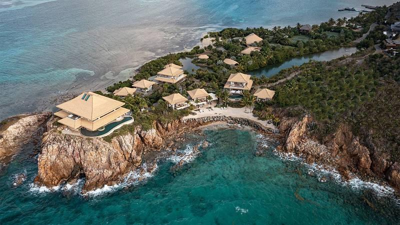 Pozemek The Branson Estate je největší. Nachází se na ostrově Moskito Island, který vlastní Richard Branson.