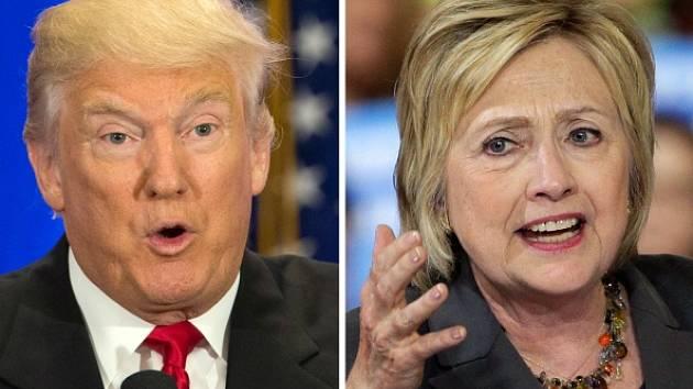 Donald Trump a Hillary Clintonová.