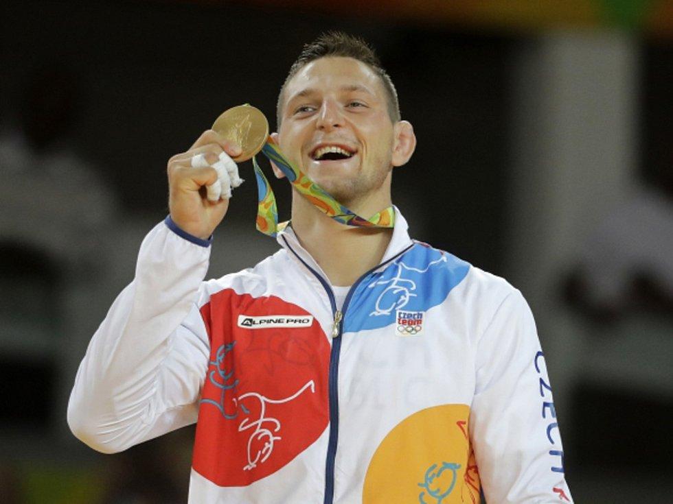 Judista Lukáš Krpálek se stal v Riu olympijským vítězem.