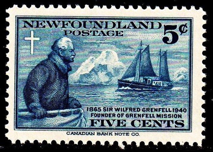 Wilfred Grenfell na poštovní známce z roku 1940