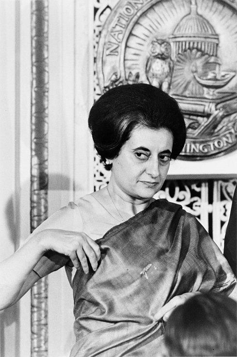 Indira Gándhiová v roce 1966