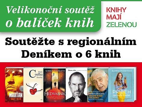 Zapojte se s regionálním Deníkem do soutěže o 6 knih.