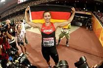 Katharina Molitorová posledním hodem získala zlato mezi oštěpařkami