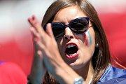 Francouzská fanynka. Fotbalové MS Rusko 2018