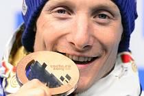 Ondřej Moravec s medailí