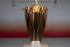 Olympijský oheň ve Fukušimě.