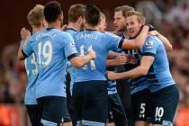 Harry Kane v akci: Tottenham slaví gól do sítě Stoke