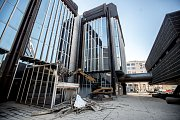 Demolice budovy Transgasu