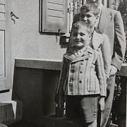 František Lederer (vepředu) s bratrem a bratrancem Glaserem