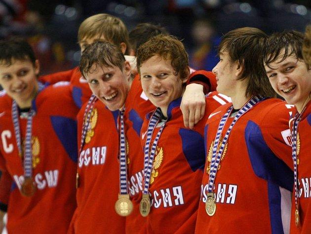 Radost hokejistů Ruska.