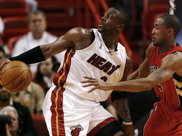 Dwyane Wade z Miami v zápase proti Torontu.