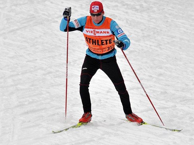 Lukáš Bauer při tréninku na Tour de Ski.