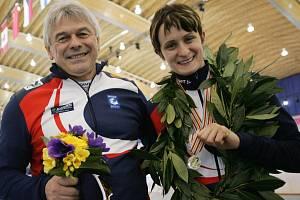 Martina Sáblíková se svým trenérem Petrem Novákem.