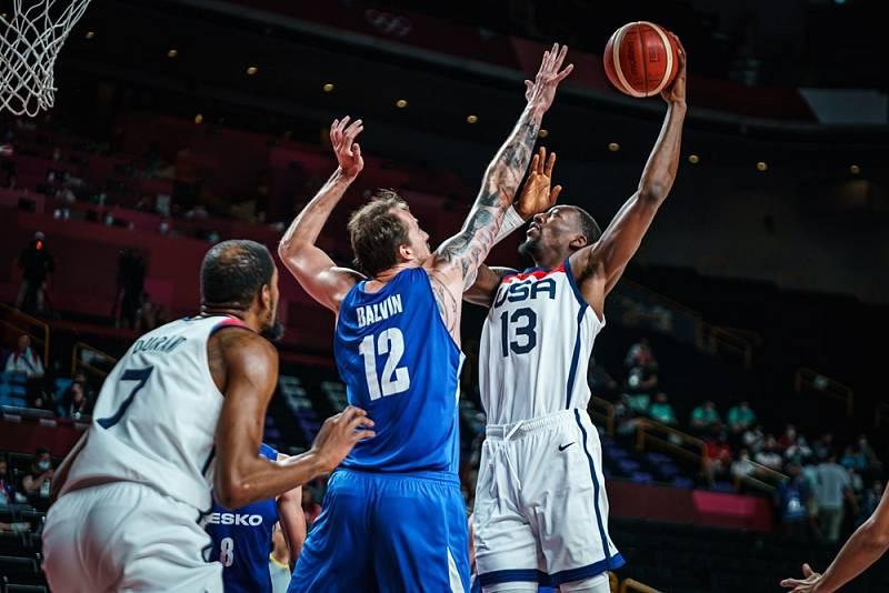 Zápas Česko - USA na OH v Tokiu.