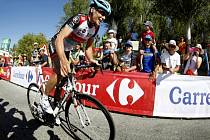 Chris Horner během náročné 10. etapy Vuelty.
