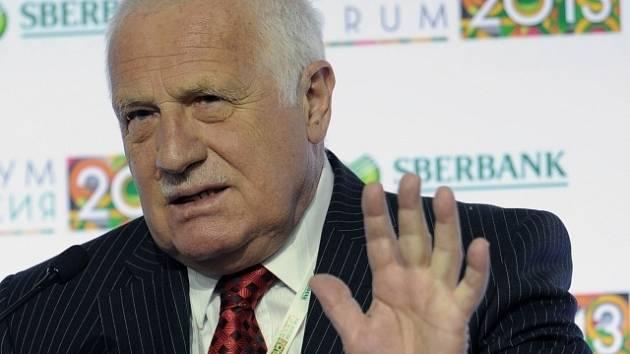 Václav Klaus na mezinárodní konferenci v Rusku
