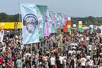V areálu hradeckého letiště začal 4. července 2019 hudební festival Rock for People