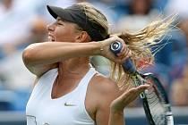 Maria Šarapovová ve finále turnaje v Cincinnati.
