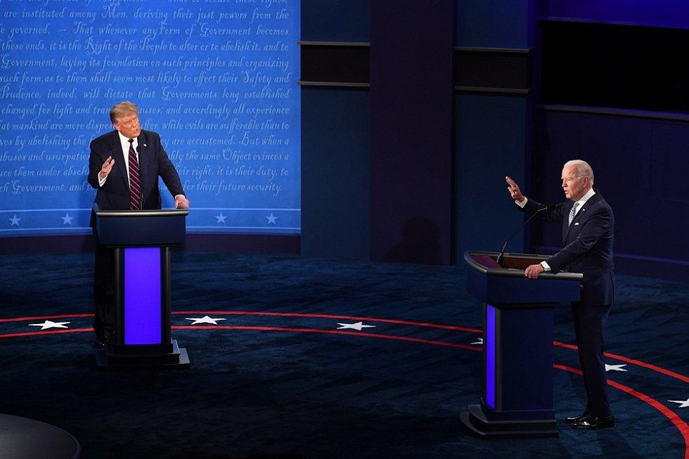 Donald Trump a Joe Biden v předvolební debatě