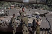 Izraelská armáda poblíž hranic s pásmem Gazy. Ilustrační foto.