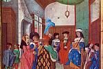 Jana v doprovodu francouzského šlechtice Jana z Met vyhledala dauphina, nekorunovaného francouzského krále