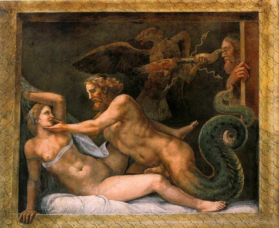 Jupiter svádí Olimpiade
