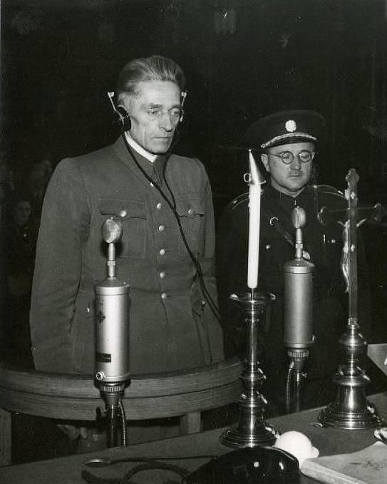 Karl Hermann Frank před Lidovým soudem v Praze, 21. května 1946